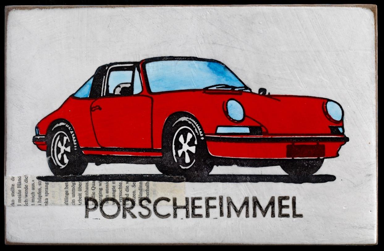 Porschefimmel - Targa in rot - nach rechts
