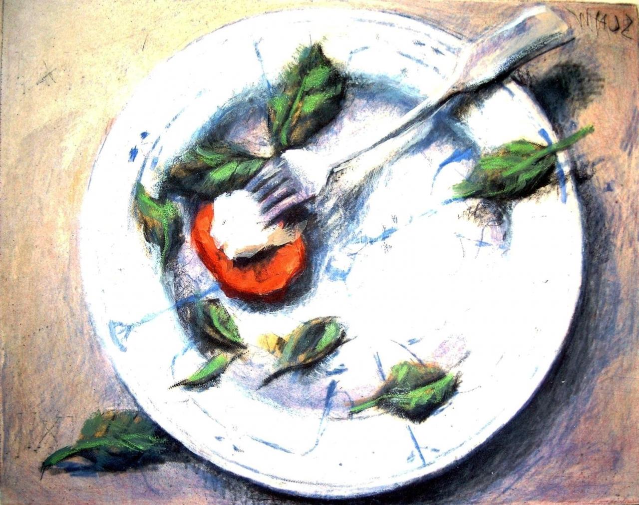 Küche - Mozarella Basilikum