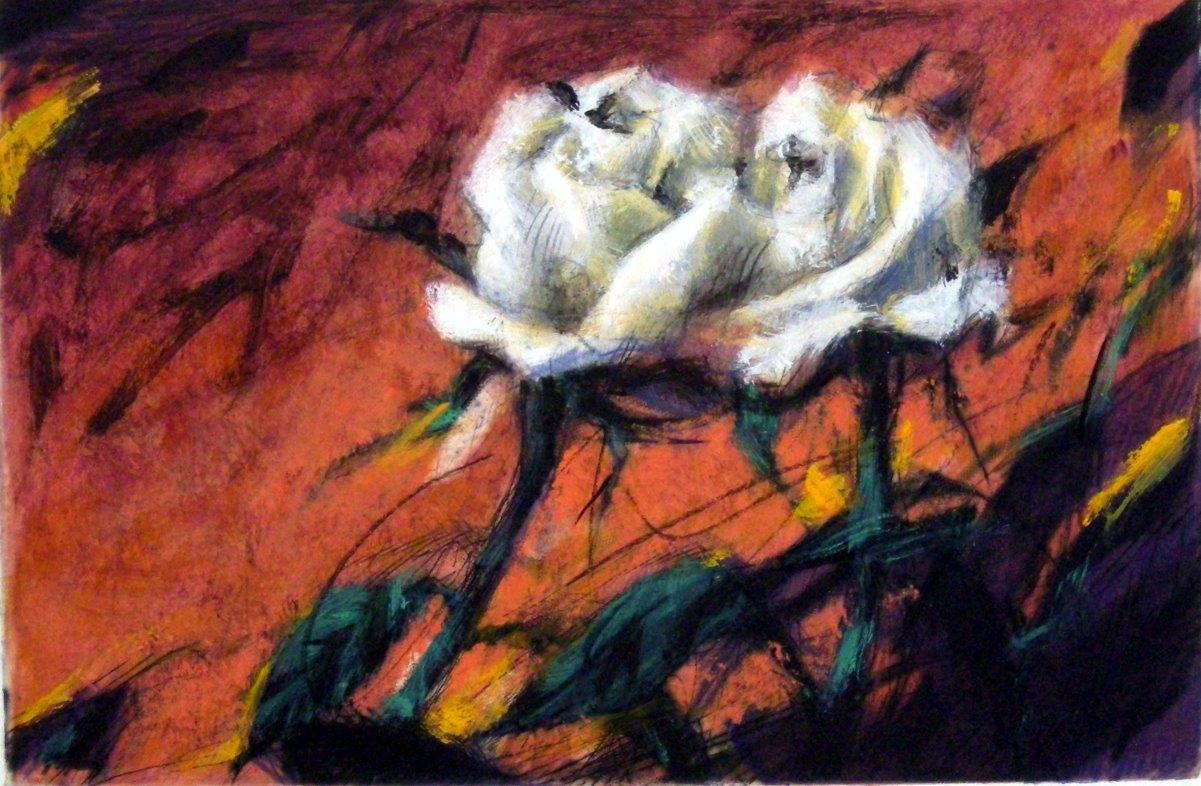 Rosen auf Rot
