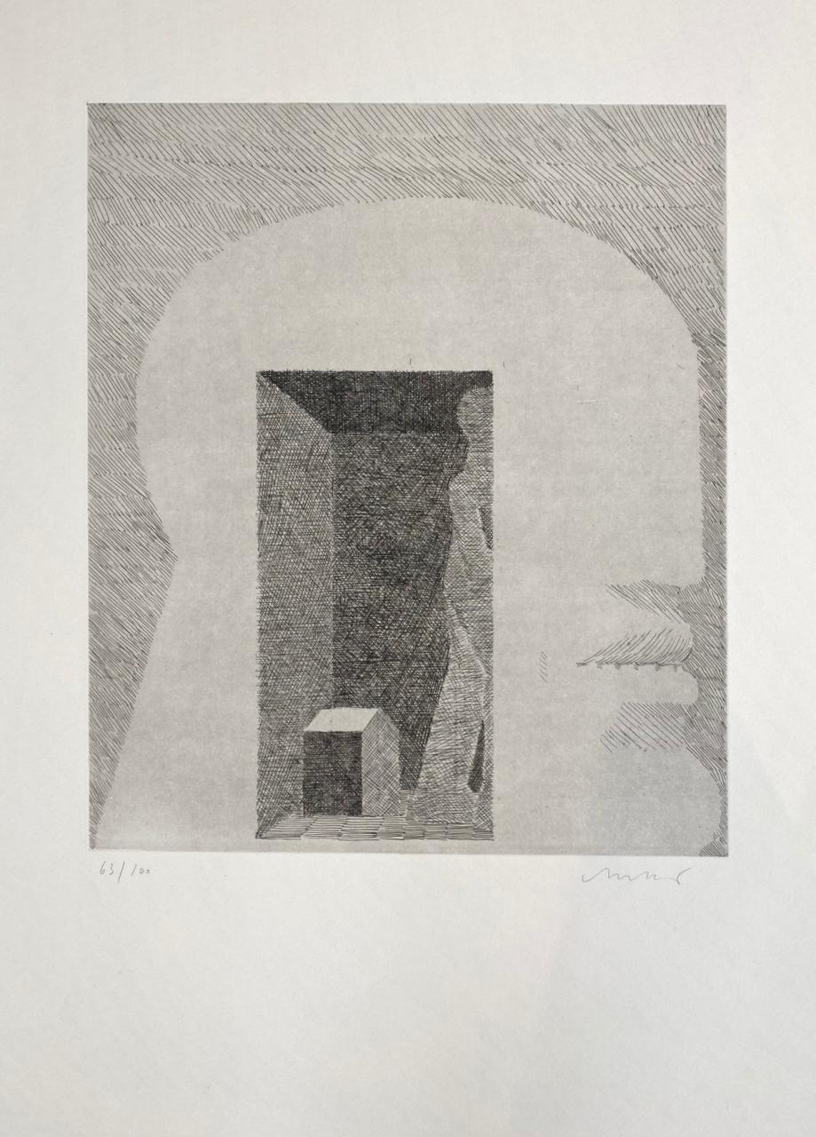Kopf Innenraum mit Figur