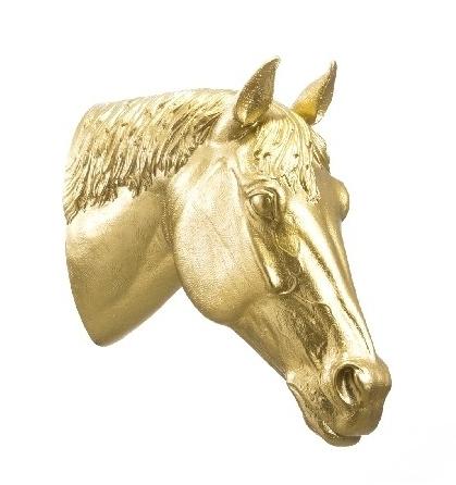 Pferdekopf - gold, signiert