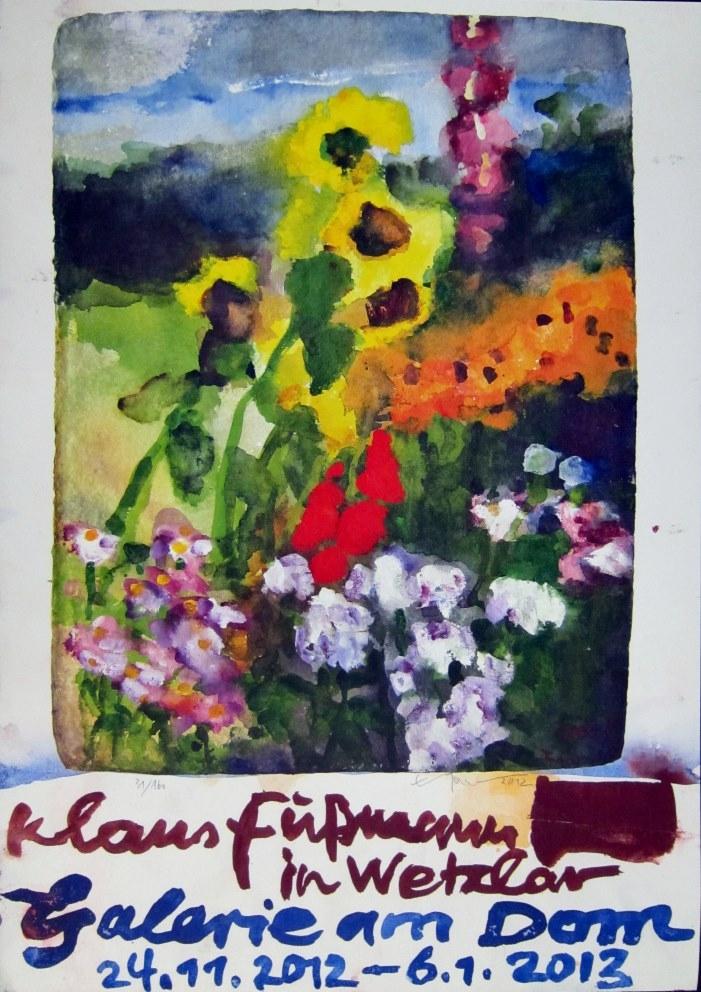 Ausstellungsplakat 2012: Klaus Fußmann in Wetzlar, signiert