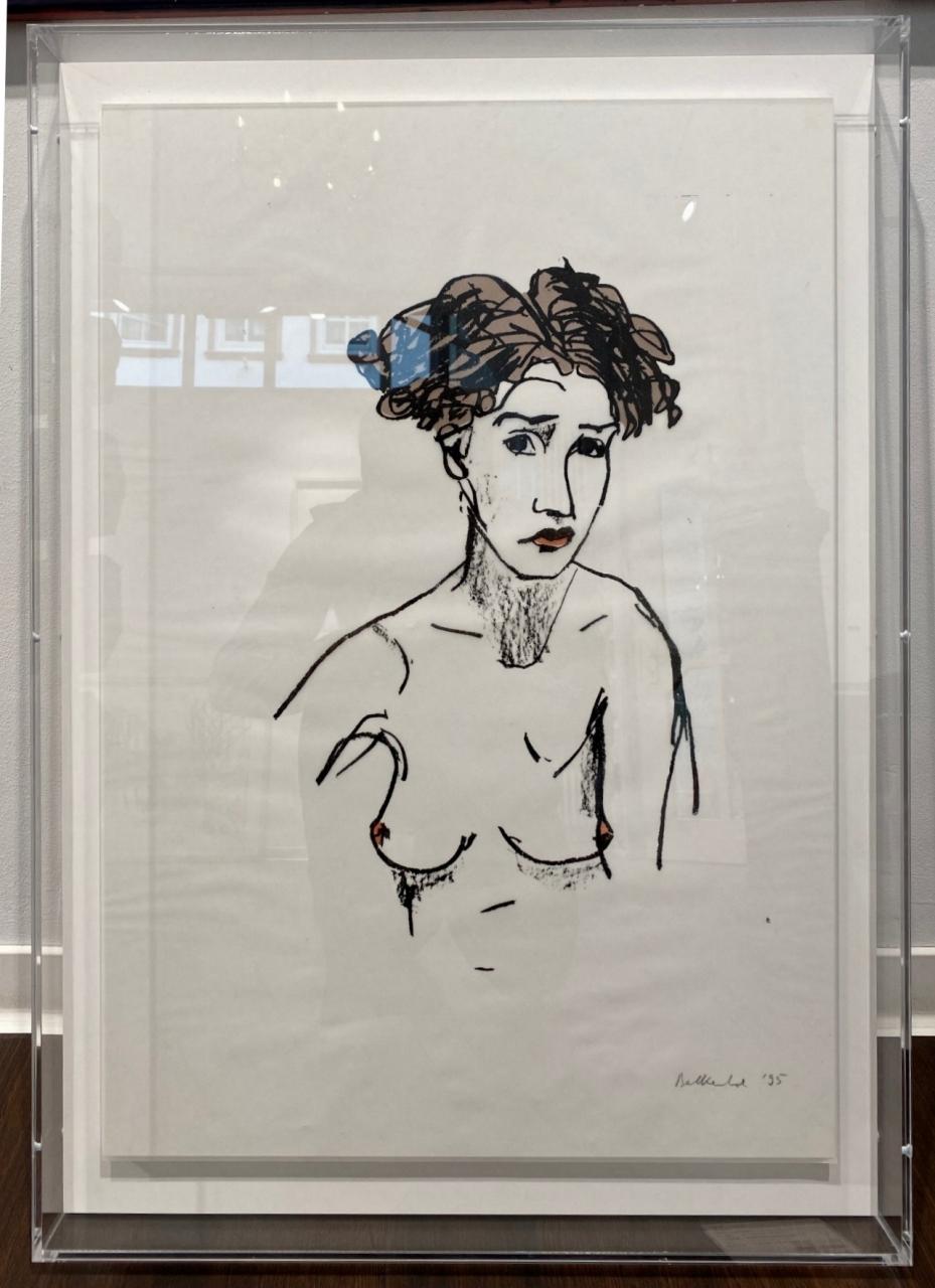 Akt (Frauenbüste), 1995 - gerahmt