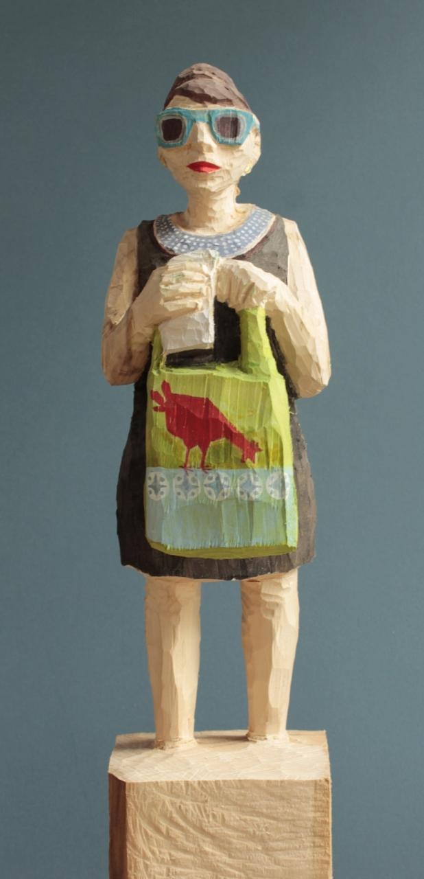 Edekafrau (913) mit Huhn-Tasche
