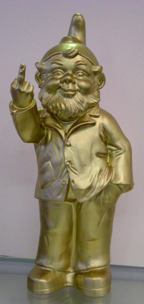 Sponti-Zwerg - gold,signiert