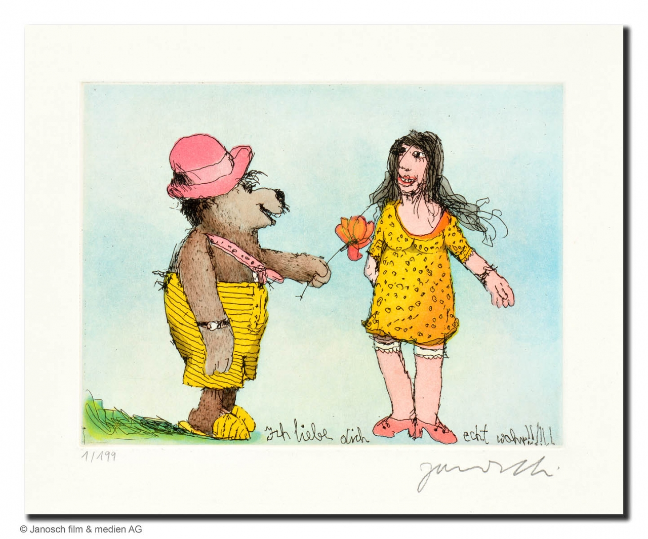Ich liebe Dich echt wahr (Bär mit rotem Hut)