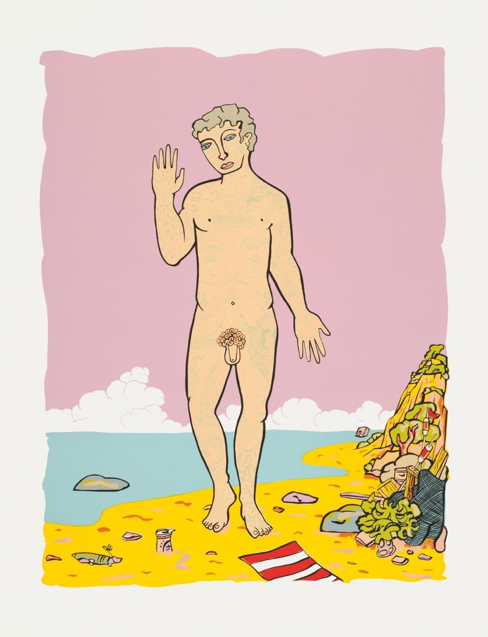 Am Strand - rosa