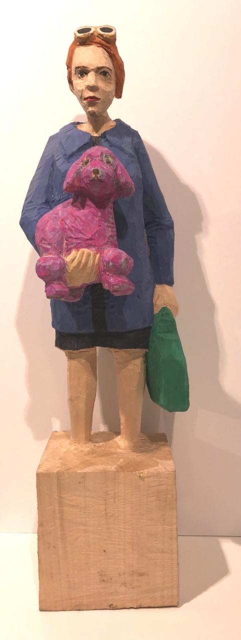 Edekafrau (1271) mit lila Pudel