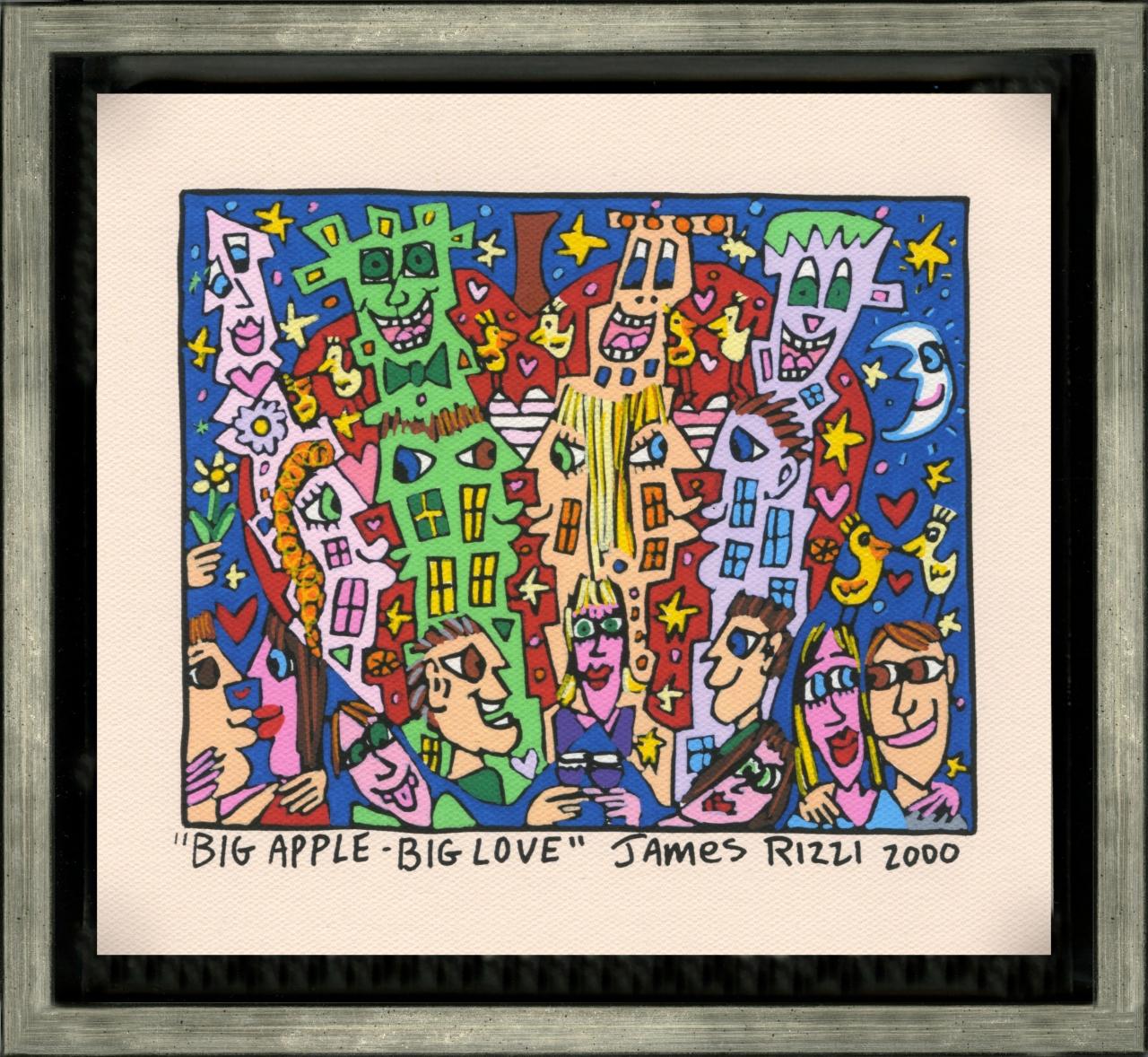 Big Apple - Big Love im Vergolderrahmen