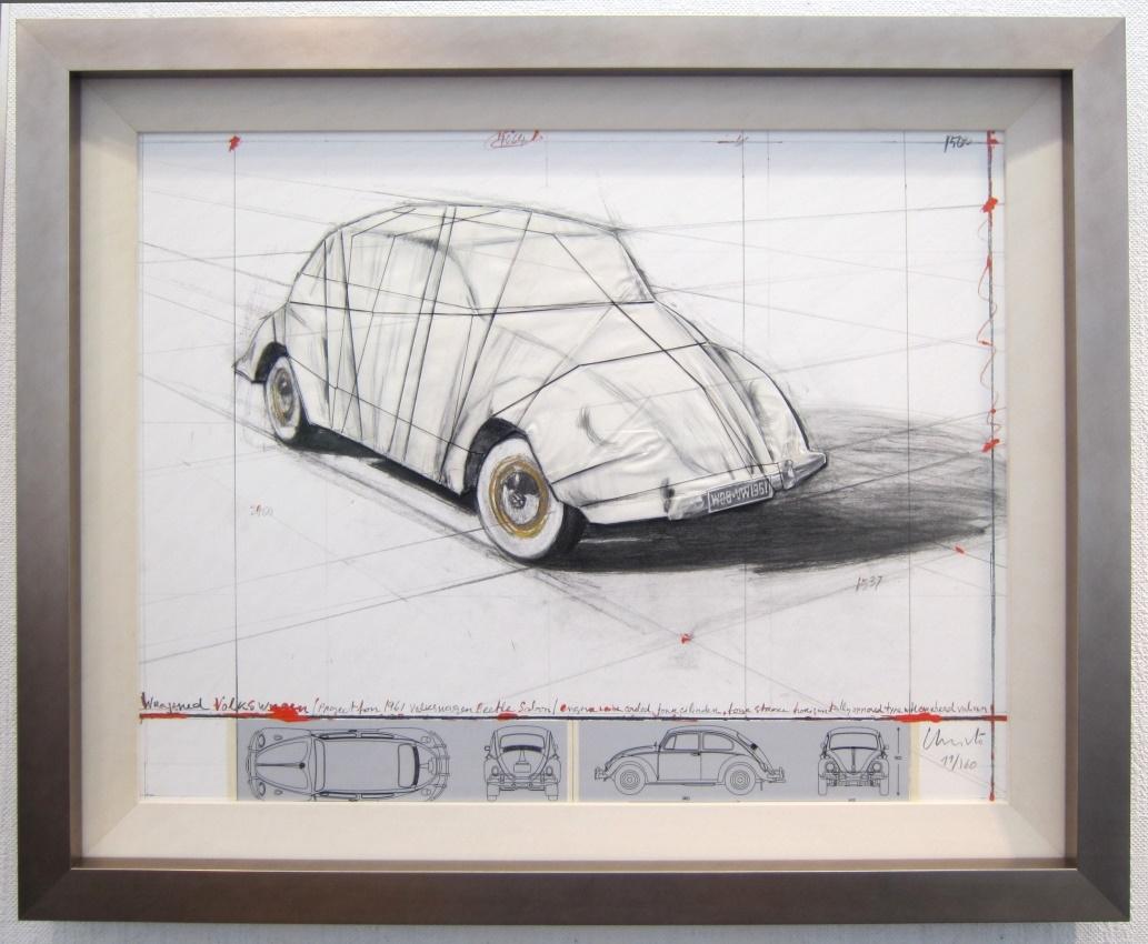 Wrapped Volkswagen, gerahmt