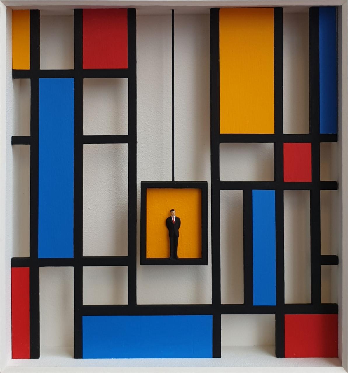 Der Fahrstuhl nach oben - Homage à Mondrian