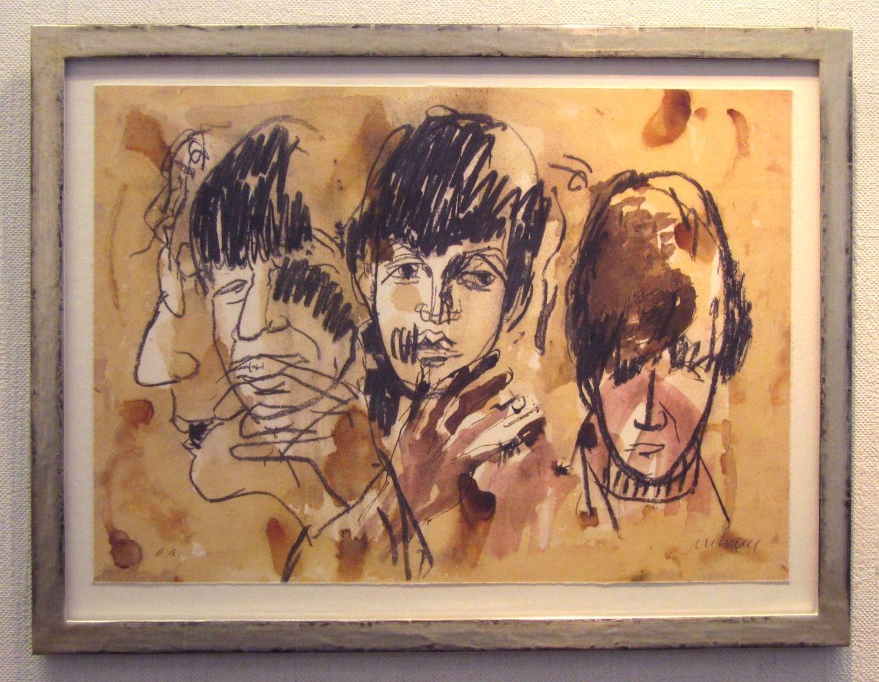 Beatles im Vergolderrahmen