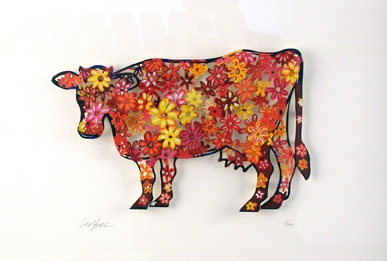 Floral Cow (PAPER)
