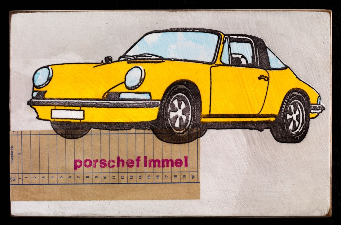 Porschefimmel - Targa indischgelb