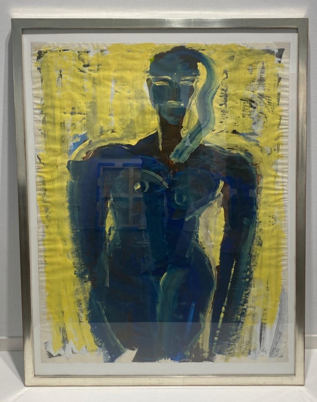 o.T. (Frau vor gelb), 1989