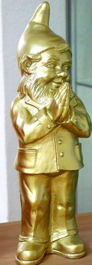 Ben, der betende Zwerg - gold, signiert
