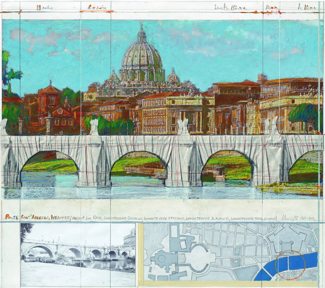 Ponte Sant Angelo Rome Wrapped