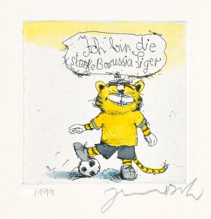 Fußball Tiger - Ich bin die starke Borussia Tiger