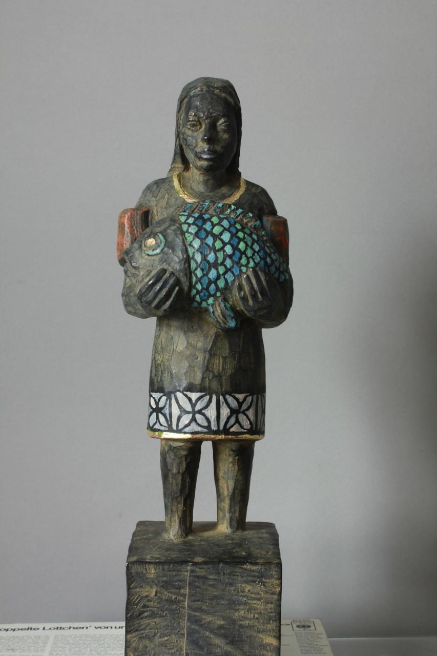 Edeka-Bronze mit Fisch EA 2/3