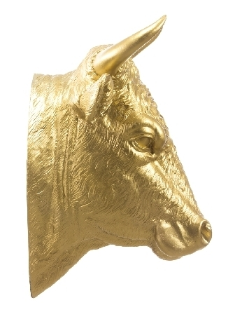 Stierkopf - gold, signiert