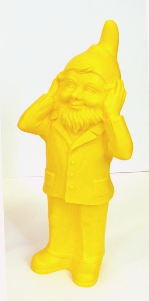 Nichts Hören - gelb, signiert