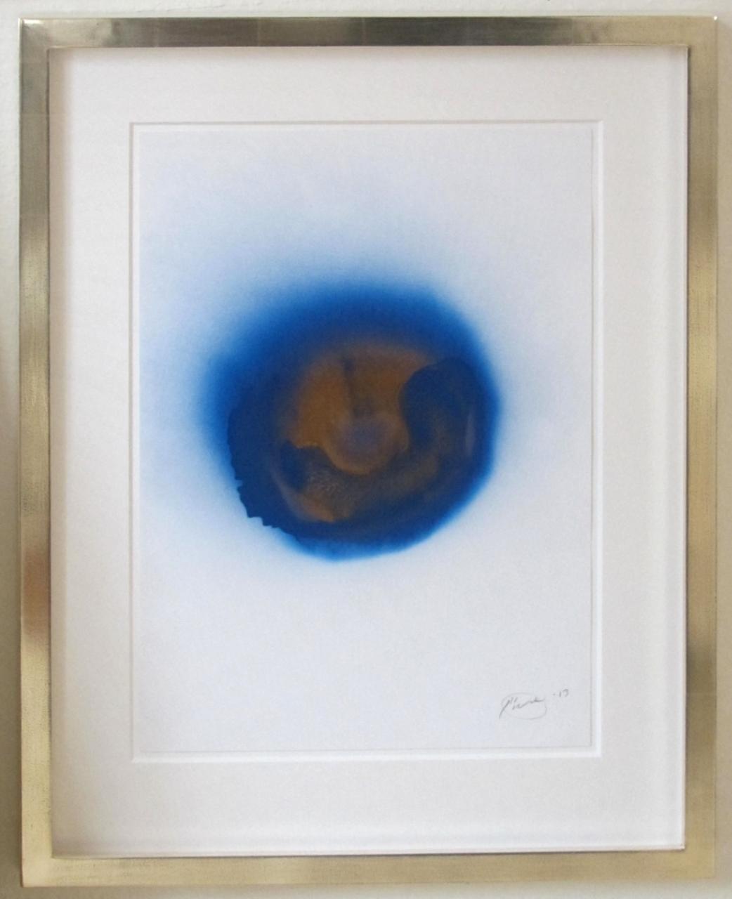 o.T. (blau-gold)