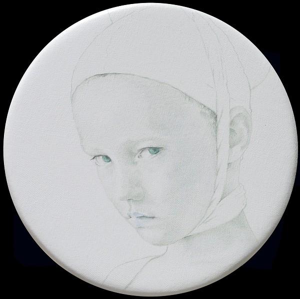 White Tondo No. 15