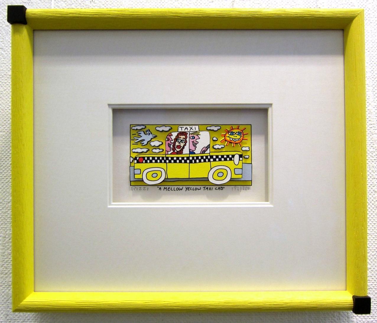 A Mellow Yellow Taxi Cab, gerahmt