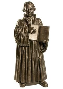 Martin Luther - bronze, signiert