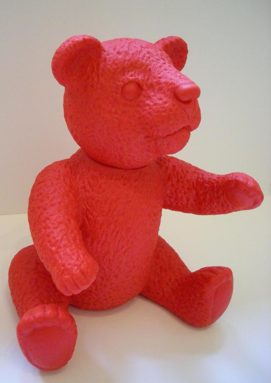 Teddy - rot , signiert