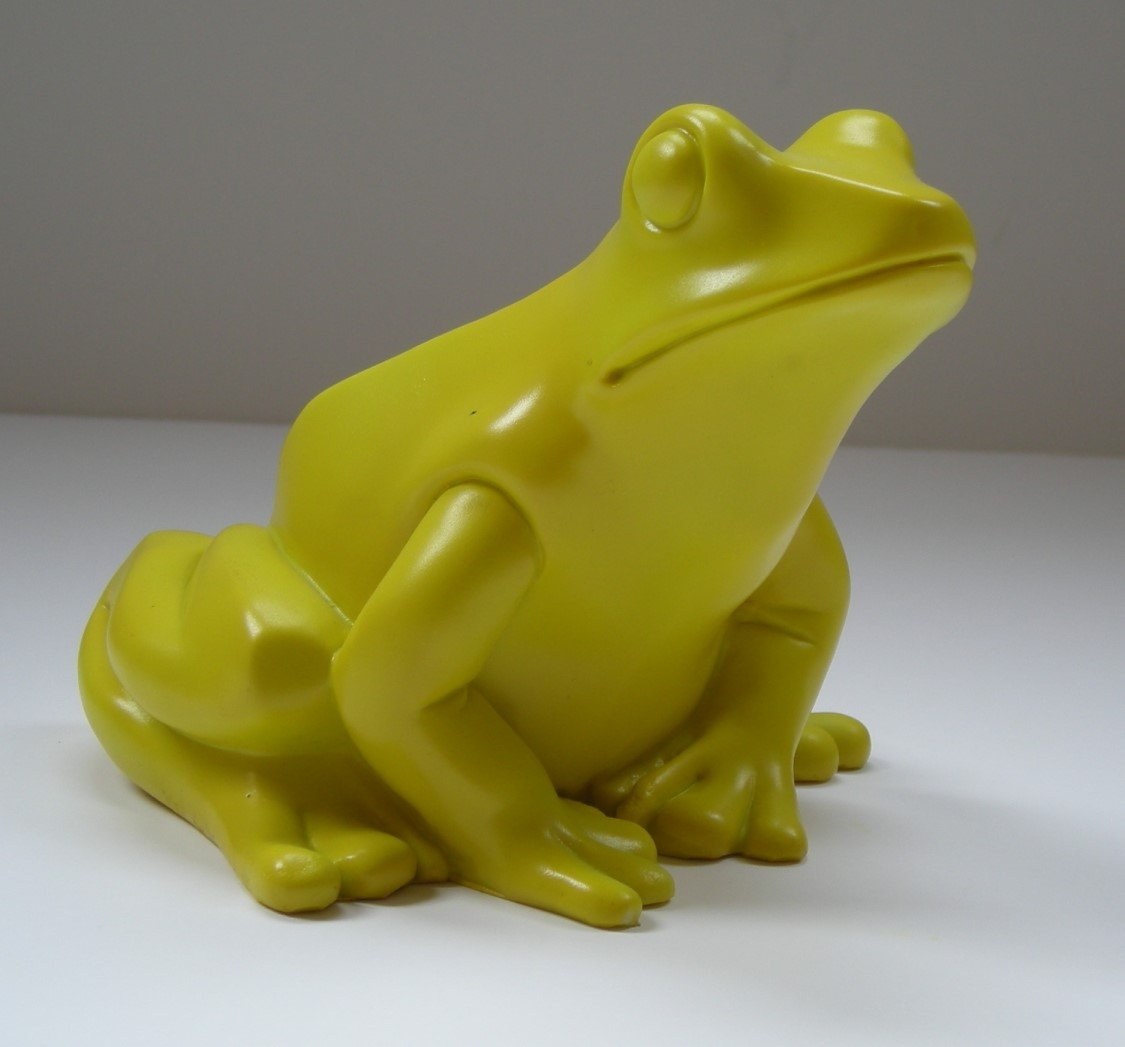 Froschkönig - gelb, signiert
