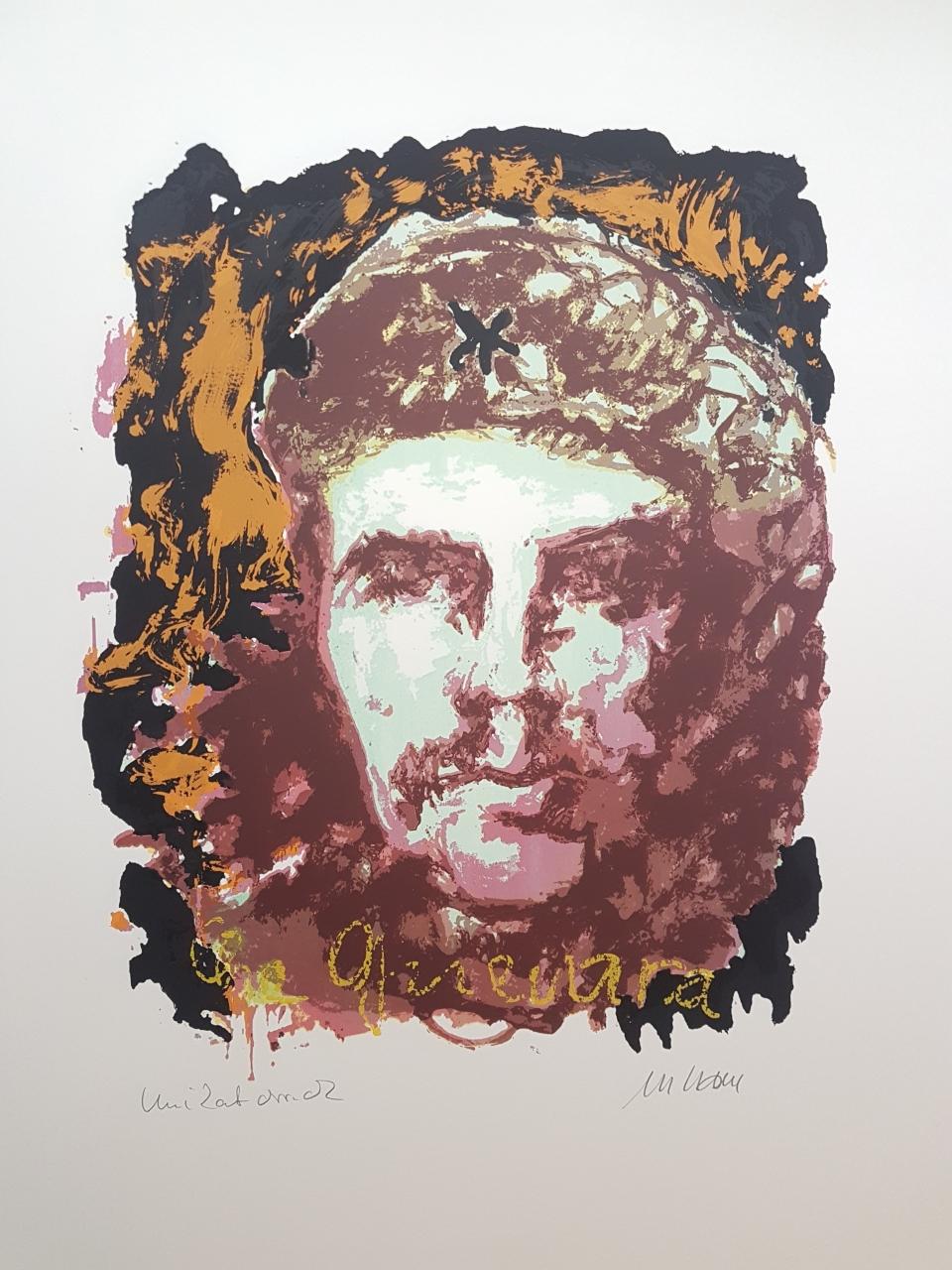 Che Guevara - Unikatdruck - No. 32 (Schwarz-Ocker)