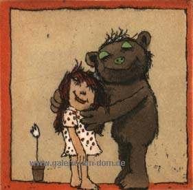 Mädchen und Bär
