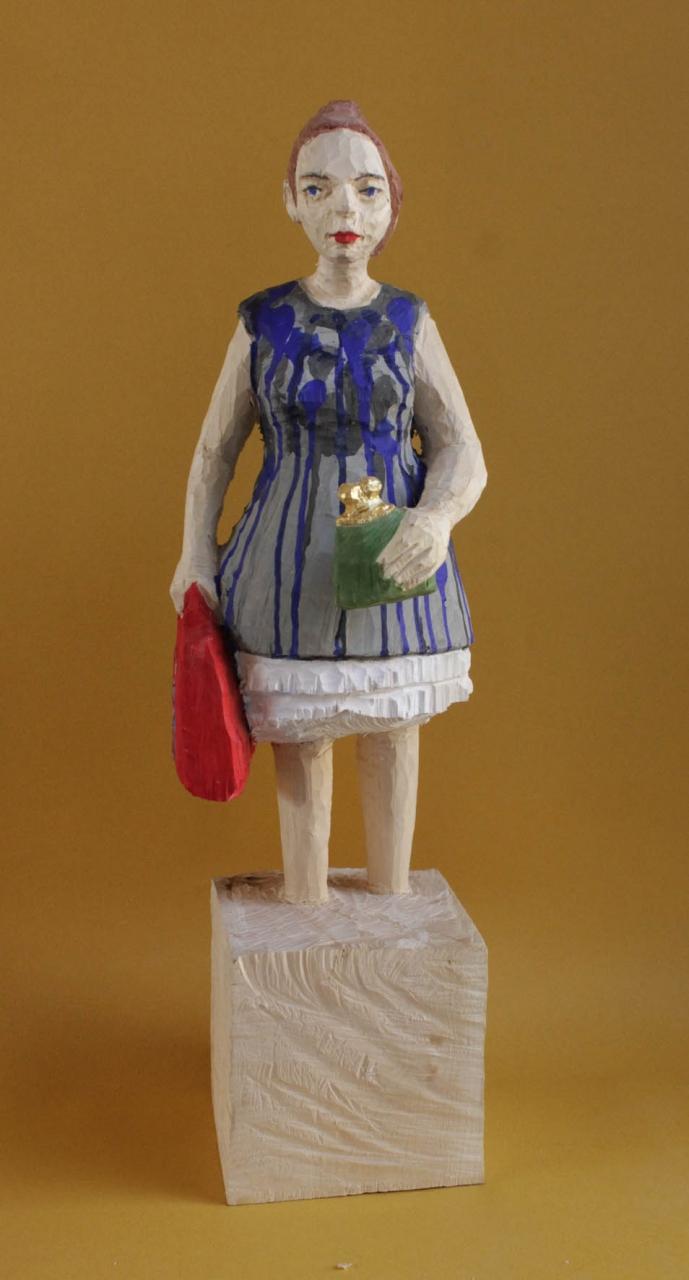 Edekafrau (1013) mit Geldbörse