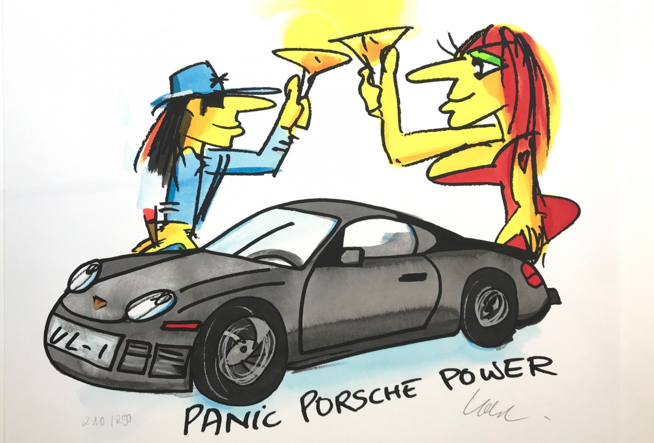 Panic Porsche Power - schwarz 2020