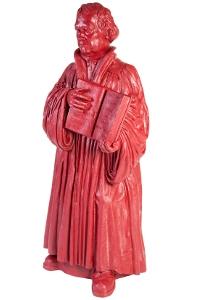 Martin Luther - purpurrot, signiert