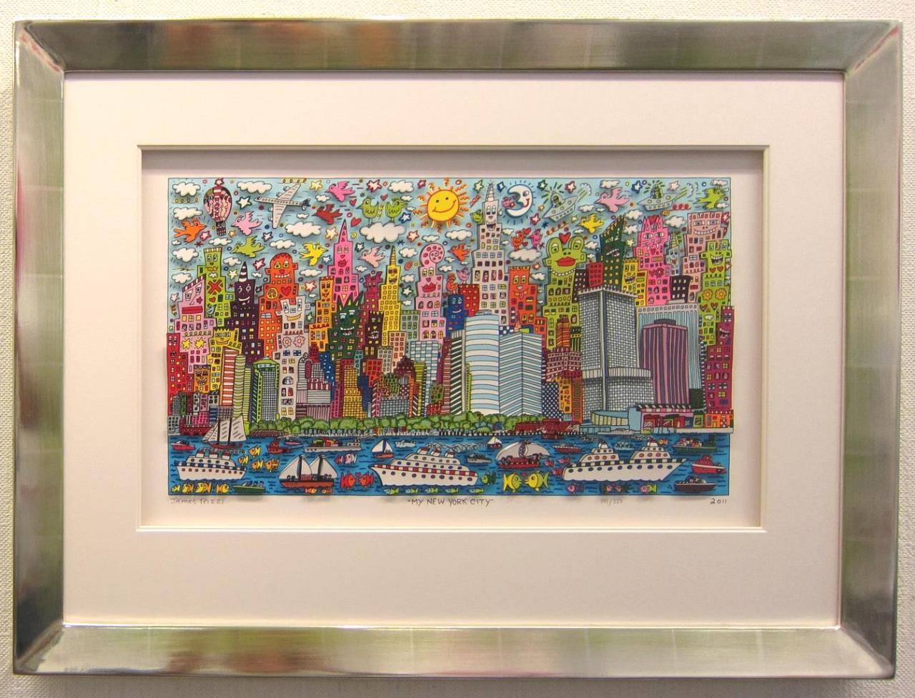My New York City 2011 gerahmt im Vergolder mit Grün