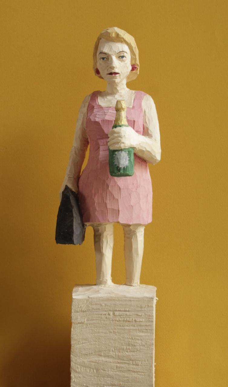Edekafrau (980) mit Champagner