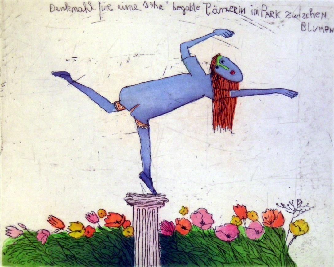 Denkmal für eine sehr begabte Tänzerin - rote Haare
