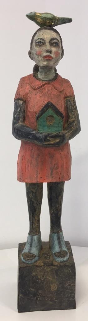 Vogelfrau Bronze