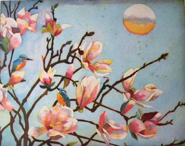 Große Magnolien