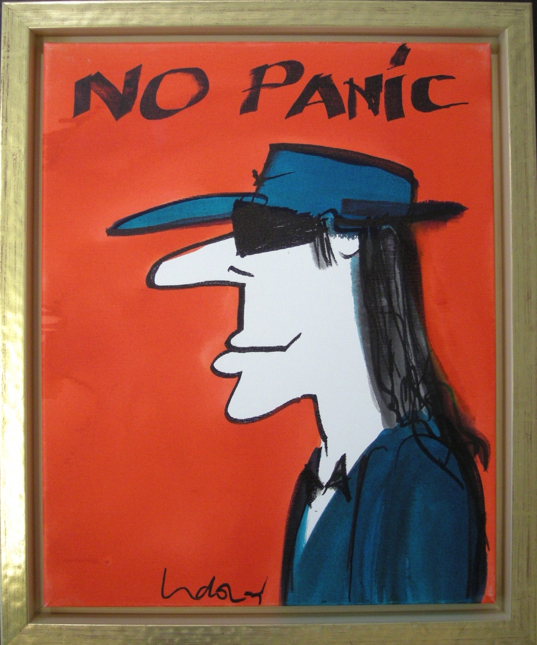No Panic (Porträt) auf Leinwand
