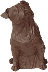 Mops - bronze, signiert