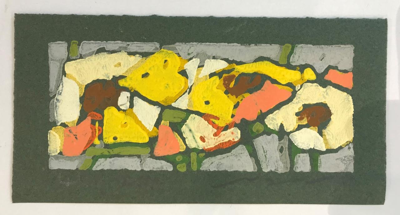 Rosen gelb (auf grünem Papier) - 2019