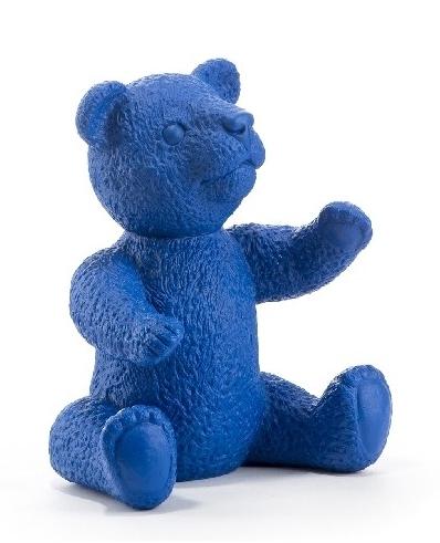 Teddy - blau, signiert