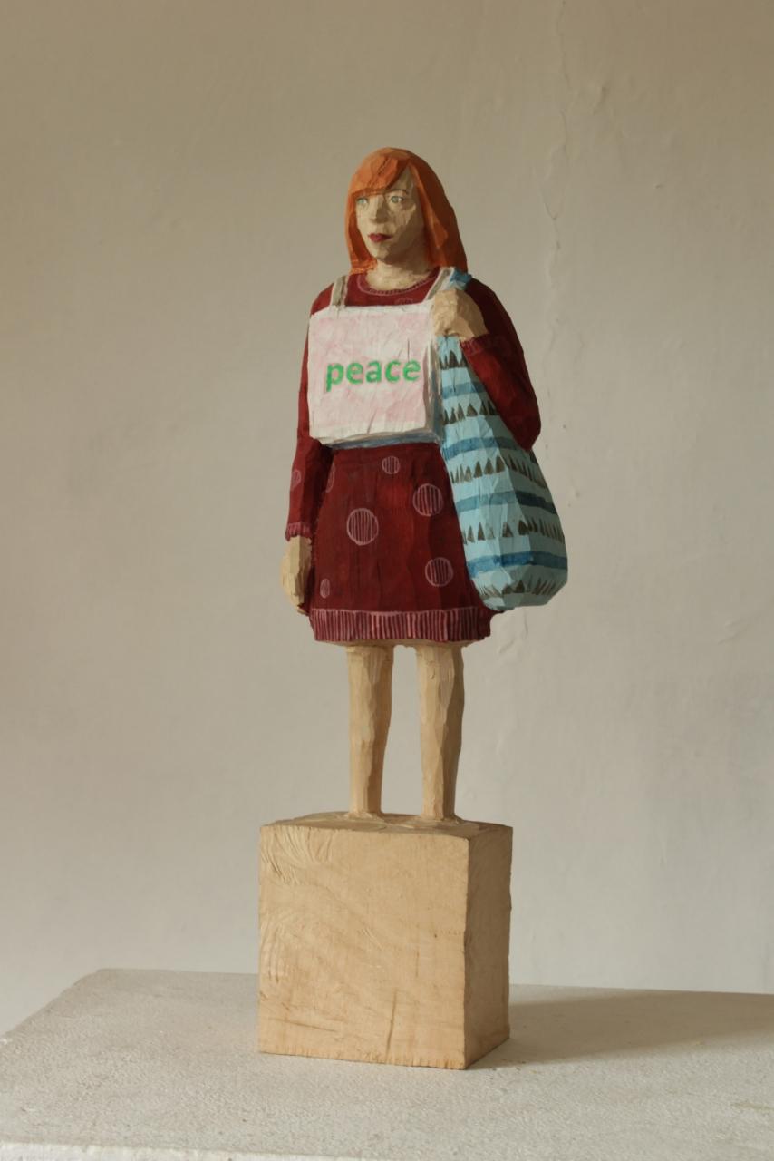 Edekafrau (1268) Peace (gemusterte Tasche)