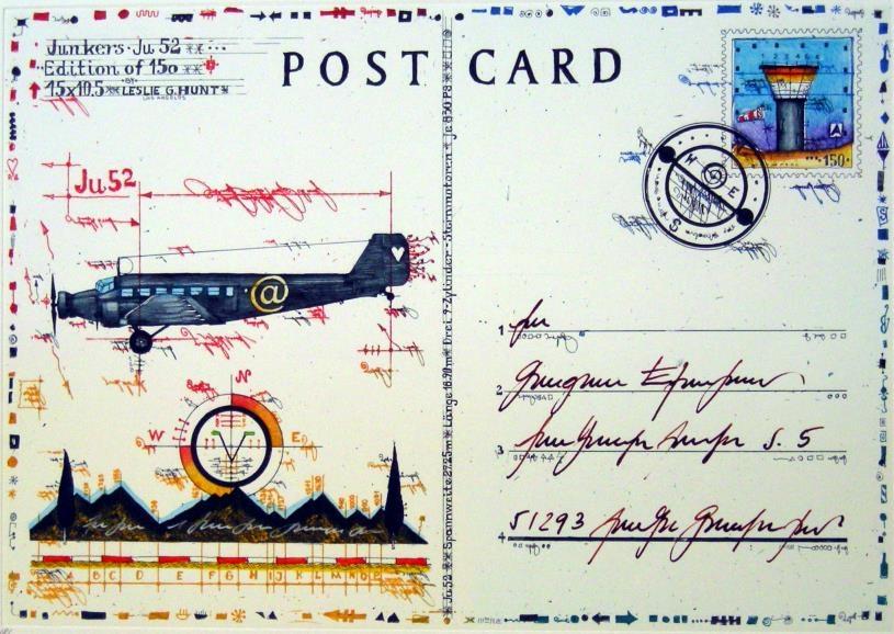 Postcard Ju 52