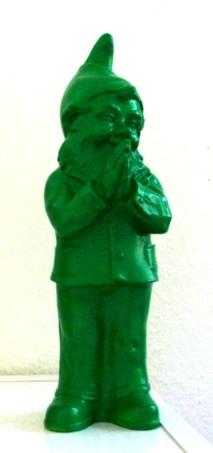 Ben, der betende Zwerg - grün, signiert