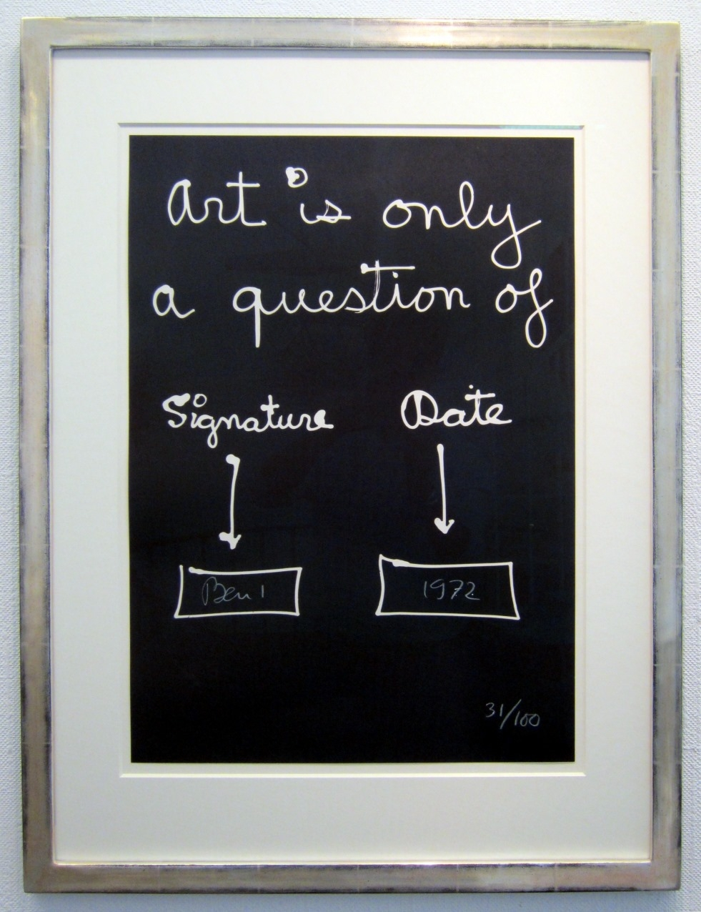 Art is only ...