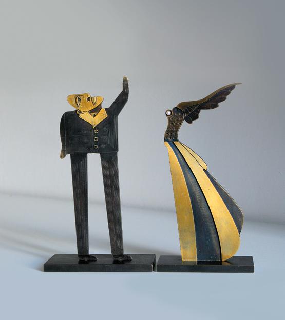 Flügelfrau und Fragensteller